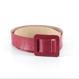 Betsey Johnson Red Embossed Belt